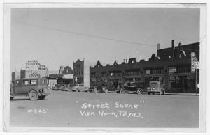 Primary view of object titled 'Broadway Street, Van Horn, 1940'.
