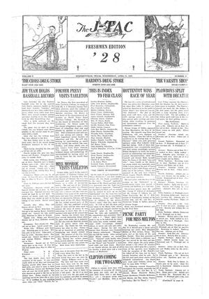 The J-TAC (Stephenville, Tex.), Vol. 5, No. 28, Ed. 1 Wednesday, April 15, 1925
