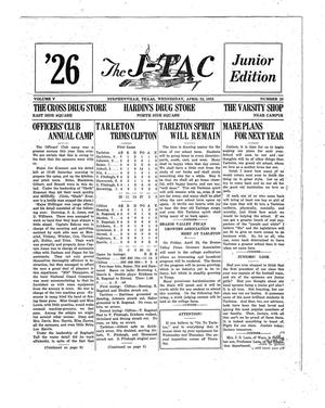 Primary view of object titled 'The J-TAC (Stephenville, Tex.), Vol. 5, No. 29, Ed. 1 Wednesday, April 22, 1925'.