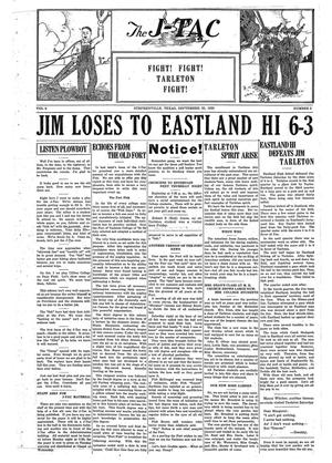 The J-TAC (Stephenville, Tex.), Vol. 6, No. 2, Ed. 1 Wednesday, September 23, 1925