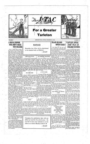 The J-TAC (Stephenville, Tex.), Vol. 7, No. 11, Ed. 1 Thursday, December 9, 1926
