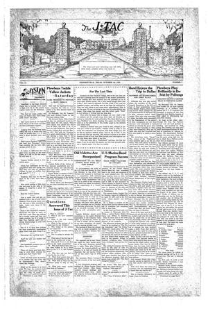 Primary view of The J-TAC (Stephenville, Tex.), Vol. 10, No. 5, Ed. 1 Saturday, October 26, 1929