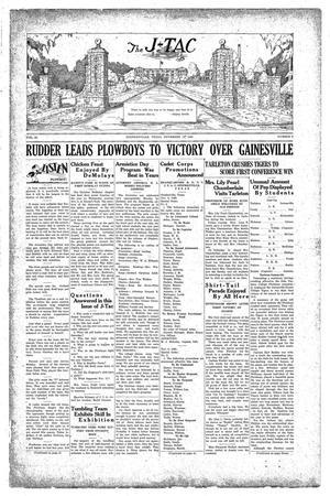 Primary view of The J-TAC (Stephenville, Tex.), Vol. 10, No. 8, Ed. 1 Saturday, November 16, 1929