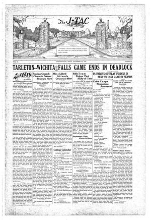 Primary view of The J-TAC (Stephenville, Tex.), Vol. 10, No. 9, Ed. 1 Saturday, November 23, 1929