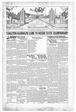 Primary view of The J-TAC (Stephenville, Tex.), Vol. 10, No. 10, Ed. 1 Saturday, November 30, 1929
