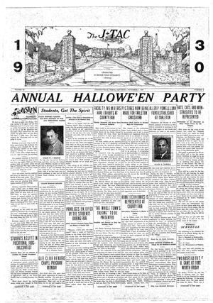 The J-TAC (Stephenville, Tex.), Vol. 11, No. 8, Ed. 1 Saturday, November 1, 1930