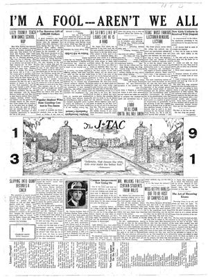The J-TAC (Stephenville, Tex.), Vol. 11, No. 27, Ed. 1 Wednesday, April 1, 1931
