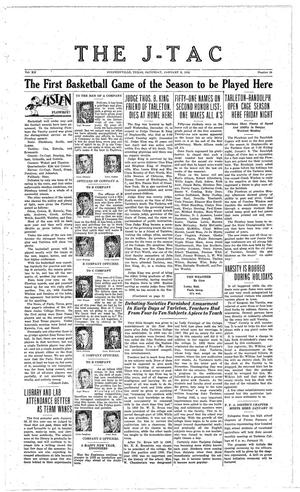 Primary view of The J-TAC (Stephenville, Tex.), Vol. 12, No. 14, Ed. 1 Saturday, January 9, 1932