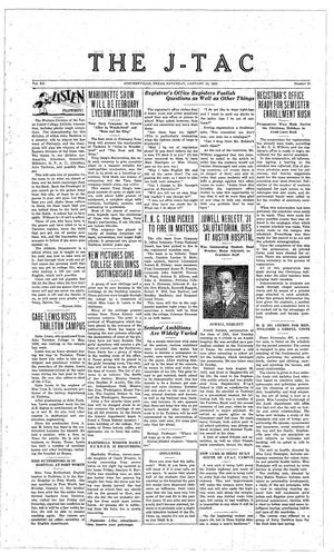 The J-TAC (Stephenville, Tex.), Vol. 12, No. 16, Ed. 1 Saturday, January 23, 1932