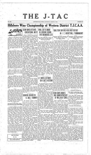 Primary view of The J-TAC (Stephenville, Tex.), Vol. 12, No. 22, Ed. 1 Saturday, March 5, 1932