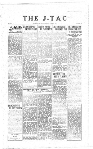 Primary view of The J-TAC (Stephenville, Tex.), Vol. 12, No. 23, Ed. 1 Saturday, March 12, 1932