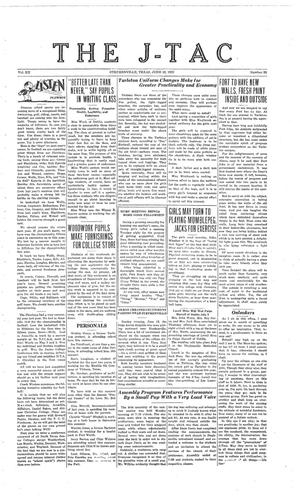 Primary view of The J-TAC (Stephenville, Tex.), Vol. 12, No. 33, Ed. 1 Saturday, June 18, 1932