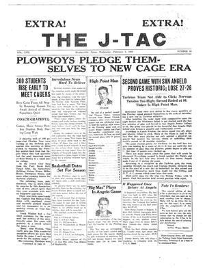 Primary view of object titled 'The J-TAC (Stephenville, Tex.), Vol. 17, No. 18, Ed. 1 Wednesday, February 2, 1938'.