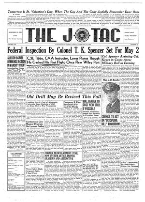 Primary view of object titled 'The J-TAC (Stephenville, Tex.), Vol. 19, No. 17, Ed. 1 Tuesday, February 13, 1940'.