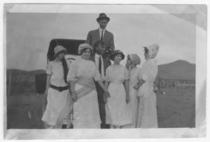 Primary view of object titled 'Young Ladies with Tom Neill and Glenn Durrill'.