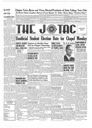 The J-TAC (Stephenville, Tex.), Vol. 19, No. 24, Ed. 1 Tuesday, April 9, 1940