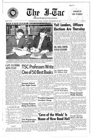 Primary view of The J-TAC (Stephenville, Tex.), Vol. 33, No. 3, Ed. 1 Tuesday, September 23, 1952