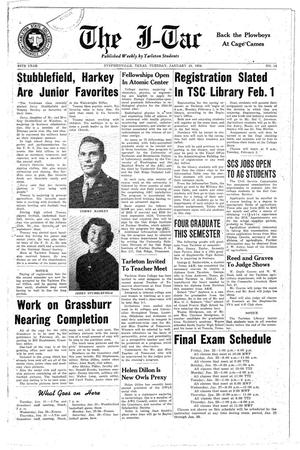 Primary view of object titled 'The J-TAC (Stephenville, Tex.), Vol. 34, No. 14, Ed. 1 Tuesday, January 19, 1954'.