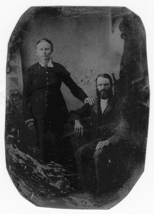 Primary view of object titled 'Tintype of Unknown Couple'.