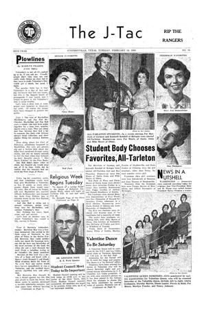 The J-TAC (Stephenville, Tex.), Vol. 36, No. 16, Ed. 1 Tuesday, February 14, 1956