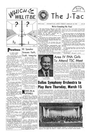 The J-TAC (Stephenville, Tex.), Vol. 36, No. 18, Ed. 1 Tuesday, February 28, 1956