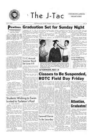 The J-TAC (Stephenville, Tex.), Vol. 36, No. 27, Ed. 1 Tuesday, May 15, 1956