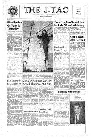 The J-TAC (Stephenville, Tex.), Vol. 38, No. 12, Ed. 1 Tuesday, December 16, 1958