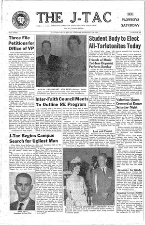 Primary view of The J-TAC (Stephenville, Tex.), Vol. 39, No. 16, Ed. 1 Tuesday, February 16, 1960
