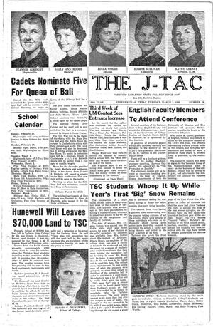 Primary view of The J-TAC (Stephenville, Tex.), Vol. 39, No. 18, Ed. 1 Tuesday, March 1, 1960