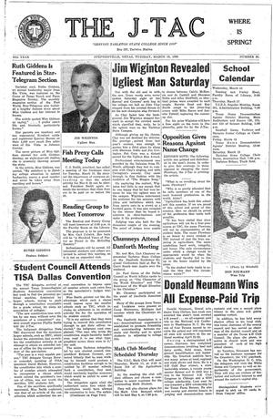 The J-TAC (Stephenville, Tex.), Vol. 39, No. 20, Ed. 1 Tuesday, March 15, 1960