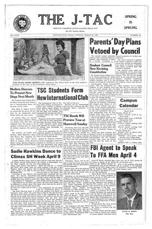 Primary view of The J-TAC (Stephenville, Tex.), Vol. 39, No. 21, Ed. 1 Tuesday, March 22, 1960