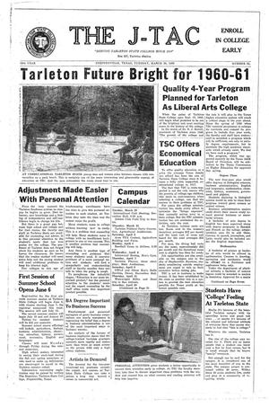 The J-TAC (Stephenville, Tex.), Vol. 39, No. 22, Ed. 1 Tuesday, March 29, 1960