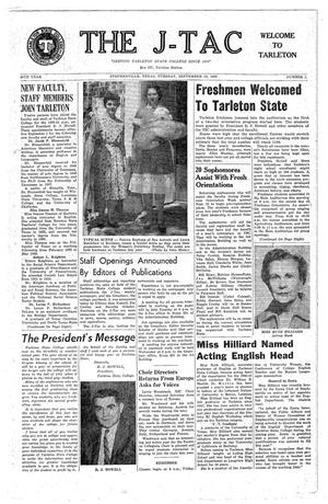 Primary view of The J-TAC (Stephenville, Tex.), Vol. 40, No. 1, Ed. 1 Tuesday, September 13, 1960