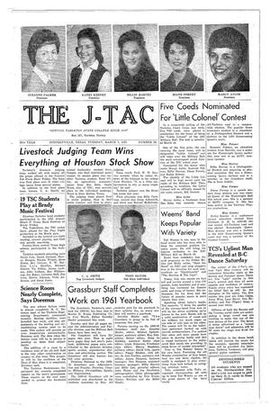 The J-TAC (Stephenville, Tex.), Vol. 49, No. 20, Ed. 1 Tuesday, March 7, 1961