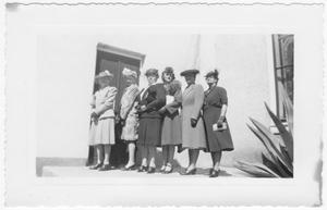 Primary view of object titled 'Six Van Horn Ladies wearing hats'.
