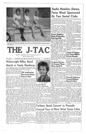 Primary view of object titled 'The J-TAC (Stephenville, Tex.), Vol. 49, No. 23, Ed. 1 Tuesday, March 28, 1961'.