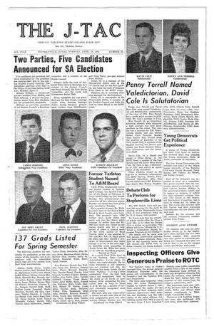 The J-TAC (Stephenville, Tex.), Vol. 49, No. 25, Ed. 1 Tuesday, April 18, 1961