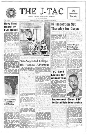 The J-TAC (Stephenville, Tex.), Vol. 50, No. 20, Ed. 1 Tuesday, March 27, 1962
