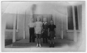Primary view of object titled 'Four Van Horn children c.1937'.