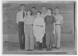 Group photo of young people, c. 1936