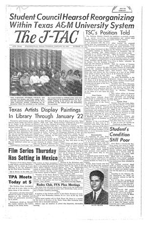 Primary view of object titled 'The J-TAC (Stephenville, Tex.), Vol. 44, No. 12, Ed. 1 Tuesday, January 12, 1965'.