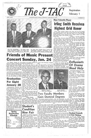 Primary view of The J-TAC (Stephenville, Tex.), Vol. 44, No. 13, Ed. 1 Tuesday, January 19, 1965