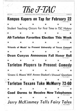 The J-TAC (Stephenville, Tex.), Vol. 44, No. 15, Ed. 1 Tuesday, February 16, 1965