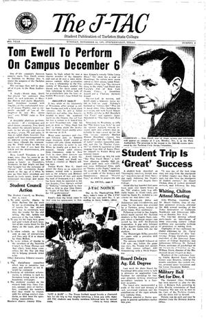 Primary view of The J-TAC (Stephenville, Tex.), Vol. 45, No. 9, Ed. 1 Tuesday, November 16, 1965