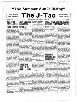 Primary view of object titled 'The J-TAC (Stephenville, Tex.), Vol. 24, No. 1, Ed. 1 Tuesday, July 18, 1944'.
