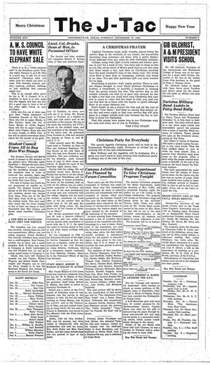 The J-TAC (Stephenville, Tex.), Vol. 25, No. 6, Ed. 1 Tuesday, December 19, 1944