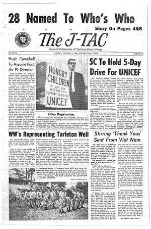 The J-TAC (Stephenville, Tex.), Vol. 45, No. 12, Ed. 1 Tuesday, January 11, 1966