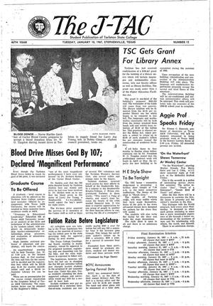 The J-TAC (Stephenville, Tex.), Vol. 46, No. 12, Ed. 1 Tuesday, January 10, 1967