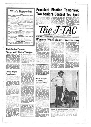 Primary view of object titled 'The J-TAC (Stephenville, Tex.), Vol. 46, No. 20, Ed. 1 Tuesday, April 11, 1967'.
