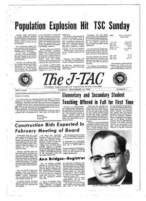 Primary view of object titled 'The J-TAC (Stephenville, Tex.), Vol. 48, No. 1, Ed. 1 Tuesday, September 10, 1968'.
